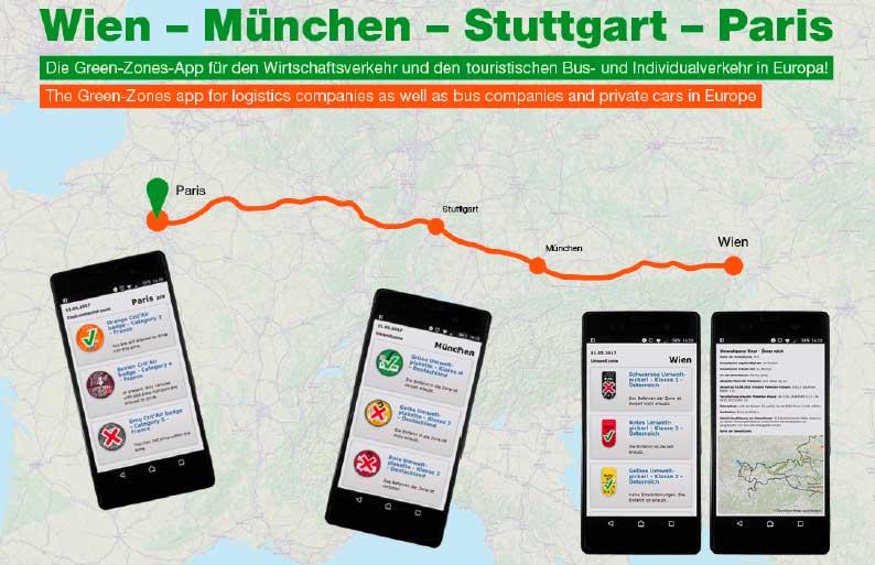 Eine neue App erleichtert den Durchblick im Umweltzonen-Dschungel Europas