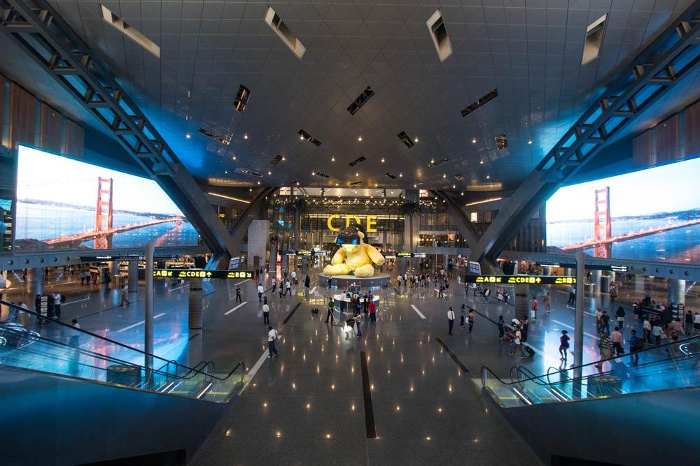 Hamad International Airport in Doha: Hier wurde die IATA-Regelung betreffend Nachverfolgung des aufgegebenen Gepäcks in die Tat umgesetzt (Foto: Arne Müseler, http://arne-mueseler.com, Wikipedia)