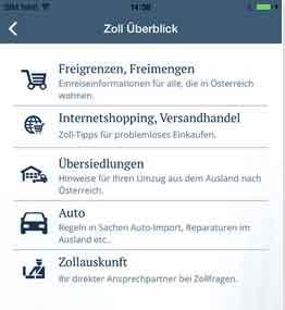 Österreichische Zoll-App
