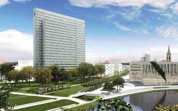 Die alltours-Chefetage im Dreischeibenhaus in Düsseldorf kann mit dem Vorjahrsergebnis zufrieden sein