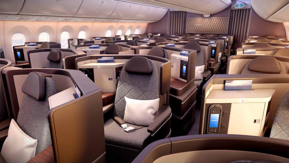 Ein neues Raumgefühl und viel Platz bietet die neue Business Class im Dreamliner der El Al