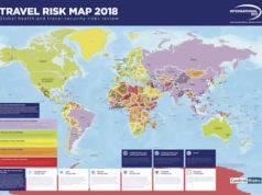 Die Travel Risk Map 2018 informiert Travel Manager und Geschäftsreisende, wo Reiserisiken bestehen
