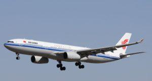 Air China Airbus 330 fliegt die Route Peking-Kopenhagen-Peking