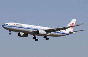 Air China Airbus 330 fliegt die Route Peking-Kopenhagen-Peking
