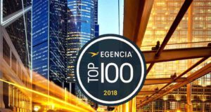 Hotels: Egencia Logo der Top 100 Hotels Awards