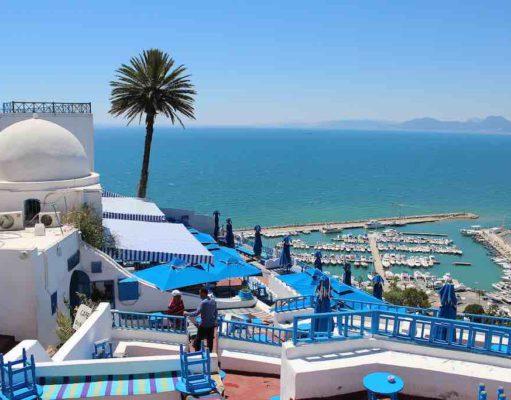 Tunesien: Ausblick von Sidi Bot Saïd aufs Mittelmeer
