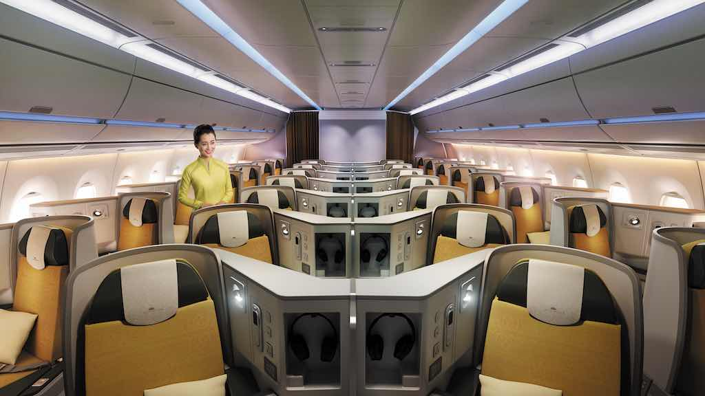 Kabine im Airbus 350 900 von Vietnam Airlines