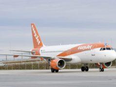 Flugzeug von easyJet auf dem Flughafen München