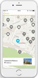 Travelguide-Reisebegleiter am Smartphone