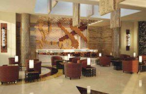 Lobby im neuen Mövenpick Hotel du Lac in Tunis