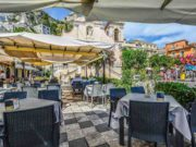 Sizilien: Restaurant in Taormina