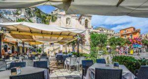Sizilien: Restaurant in Taormina