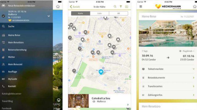 Mobiler Reisebegleiter: Travelguide-Screenshot