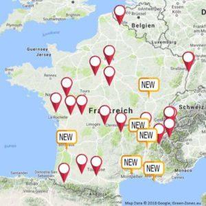 Fahrverbote: Neue Umweltzonen auf Frankreichkarte eingetragen