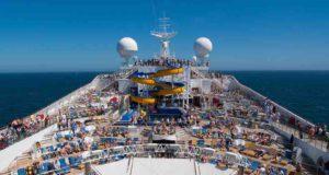 Kreuzfahrten: Sonnendeck auf einem Kreuzfahrtschiff