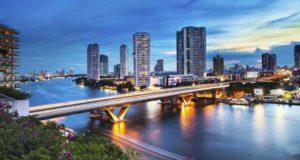 Abendstimmung, Panorama von Bangkok