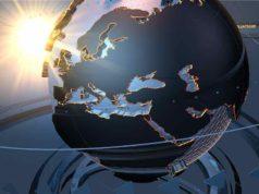 Digitalisierung des Reisens: Erdkugel als digitaler Planet