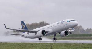 Start einer Maschine der Air Astana A321neo