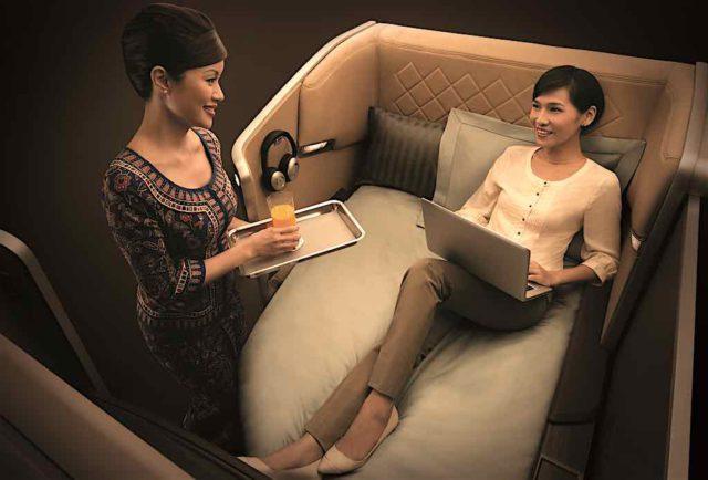 Die besten Fluglinien: Singapore Airlines mit Business Class ist führend