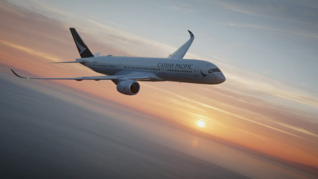 Mit dem Airbus A350-900 bedient Cathay Pacific die Strecke Kopenhagen - Hong Kong