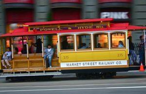 Mit dem Cable Car, dem rollenden Wahrzeichen von San Francisco, können Vegetarier zu Veggie-Restaurants fahren (Foto: Pixabay)