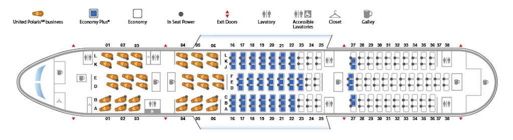 Boeing 787-8 Dreamliner Kabinen- und Sitzplan