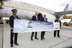 Viermal wöchent fliegt Saudia von Wien nach Riad und Dschidda (Foto: Stefan Joham, Flughafen Wien AG)