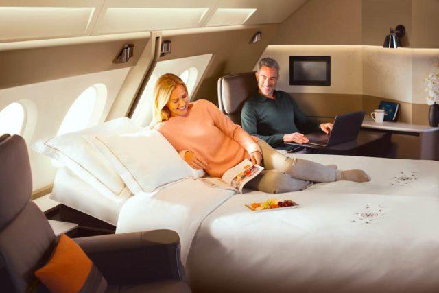 So schön kann Fliegen sein: Singapore Airlines hat an Bord der A380 auch Hotelzimmer für Passagiere, die es auf der Fernstrecke besonders bequem haben möchten