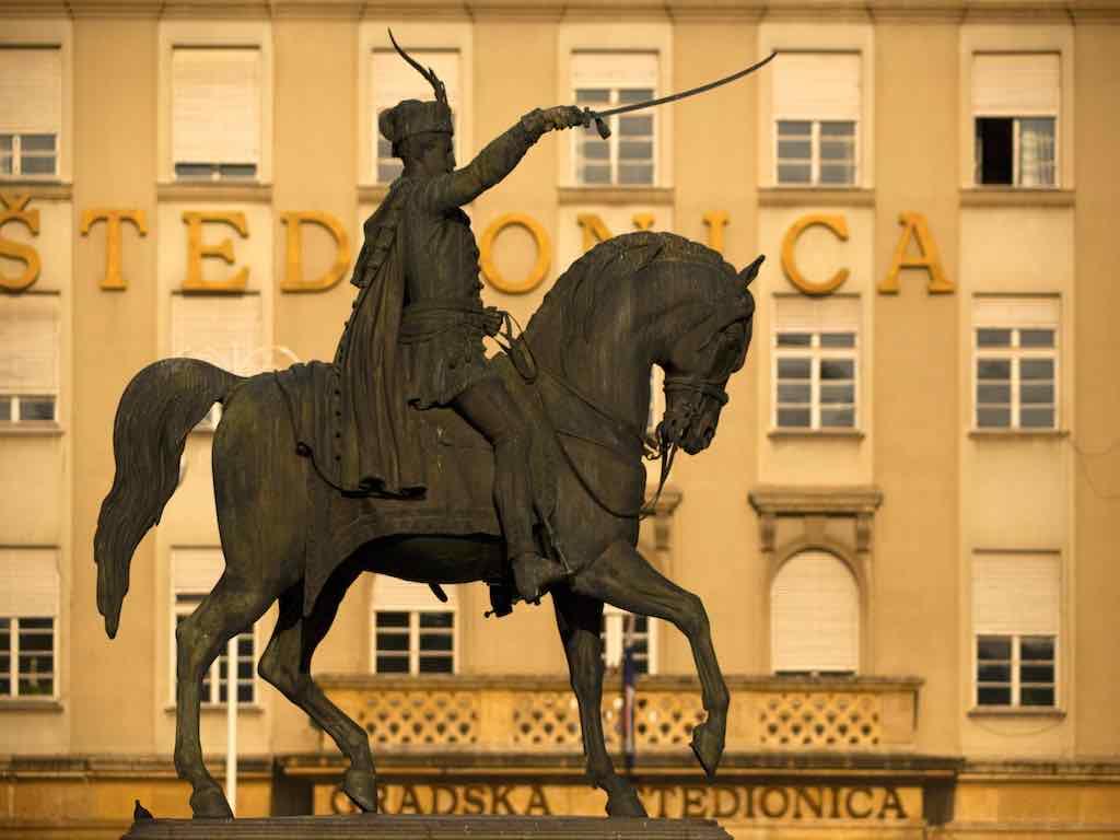 Statue des Nationalhelden Ban Jelacic (Foto: M. Vrdoljak, InfoZagreb)