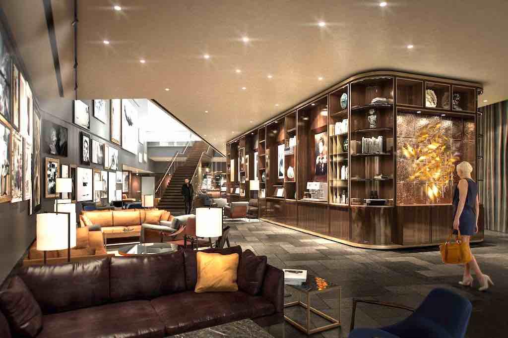 Die Lobby des Andaz Vienna wird ab 17. April zum Wohlfühl-Treffpunkt für Gäste aus aller Welt