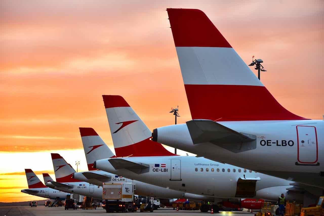 Austrian airlines abendstimmung hannes winter 1280