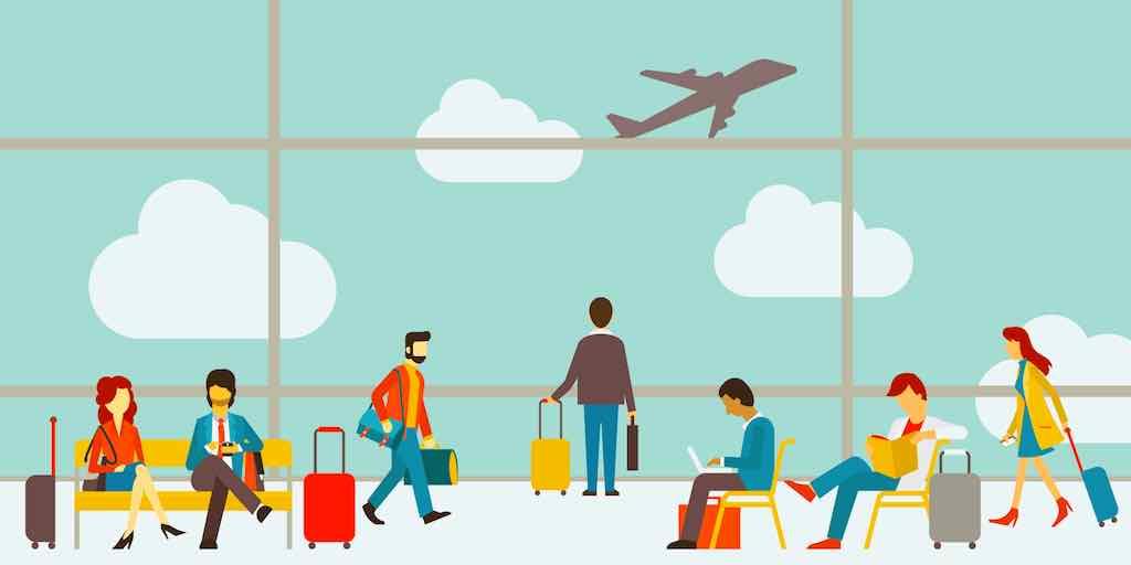 Wie Geschäftsreisende lange Wege am Flughafen meiden (Grafik: Cewe Print)