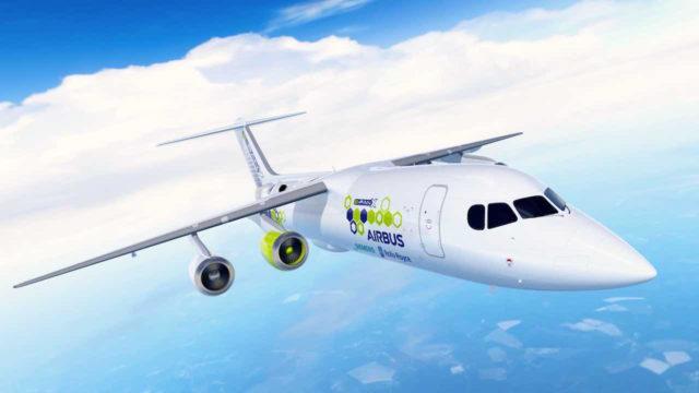 Ein hybrid-elektrisches Passagierflugzeug – E-Fan X – soll bereits 2020 an den Start gehen (Foto: Siemens)