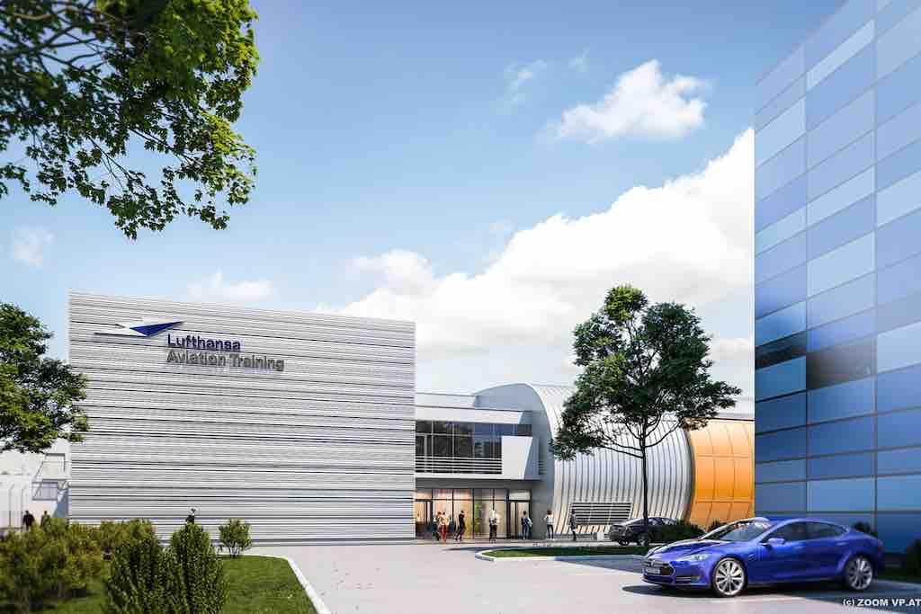 So wird das Lufthansa Aviation Trainingszentrum Austria in Wien nach Fertigstellung aussehen (Foto: LAT)