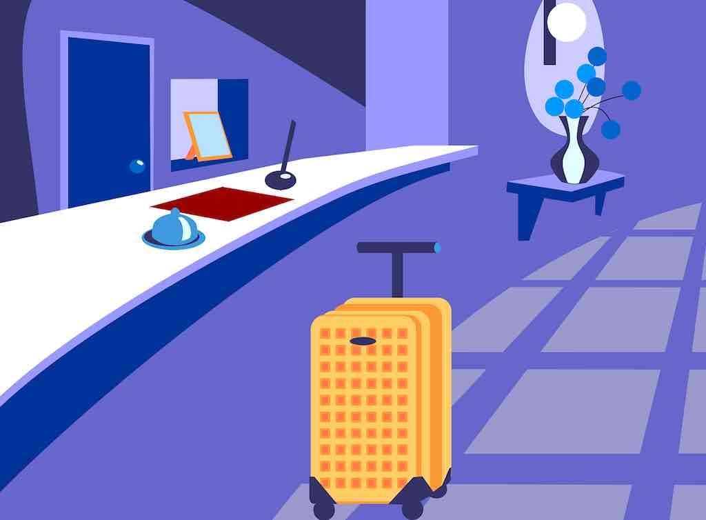 Am besten gleich beim Checkin im Hotel die Rechnung bezahlen, um am nächsten Tag Zeit zu sparen (Grafik: Noabim, Pixabay)