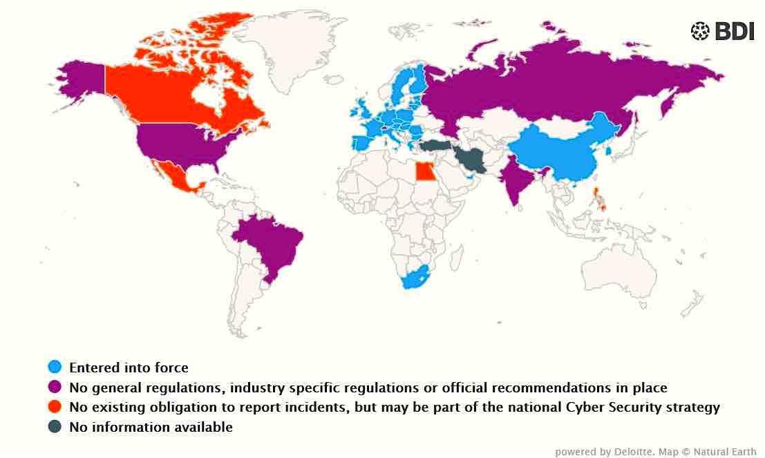 Die Cyber-Landscapes von Deloitte informieren über das Thema Cyber-Sicherheit in mehr als 20 Ländern (Grafik: obs/Deloitte)