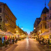 Der vier Kilometer lange Boulevard Piotrkowska bietet Besuchern mehr als 100 Lokale Foto: Archiwum UMŁ)