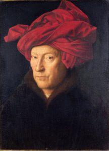 Vielleicht ein Selbstporträt von Jan van Eyck: Mann mit rotem Turban (©