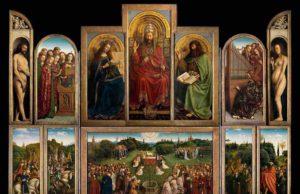 """Das berühmteste Werk von Jan van Eyck ist das Altargemälde """"Das Lamm Gottes"""" (Sint-Baafskathedraal Gent – © www.lukasweb.be – Art in Flanders VZW, Foto: Hugo Maertens)"""