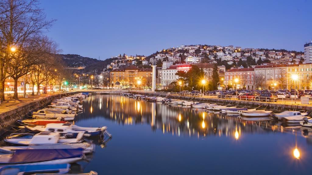 Europäische Kulturhauptstadt Rijeka: Abendstimmung am Kanal (Foto: Vukosav)