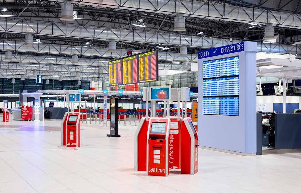 Am Flughafen Prag werden von 1. März bis Ende August 22 Airlines von Terminal 1 zu Terminal 2 verlegt