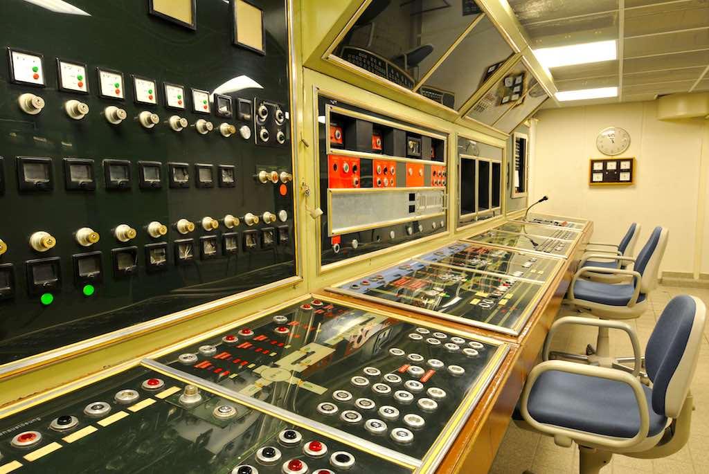 Das dunkle Geheimnis: In der Kommandozentrale wurden alle Systeme im Regierungsbunker gesteuert (Foto: Sascha Kelschenbach)