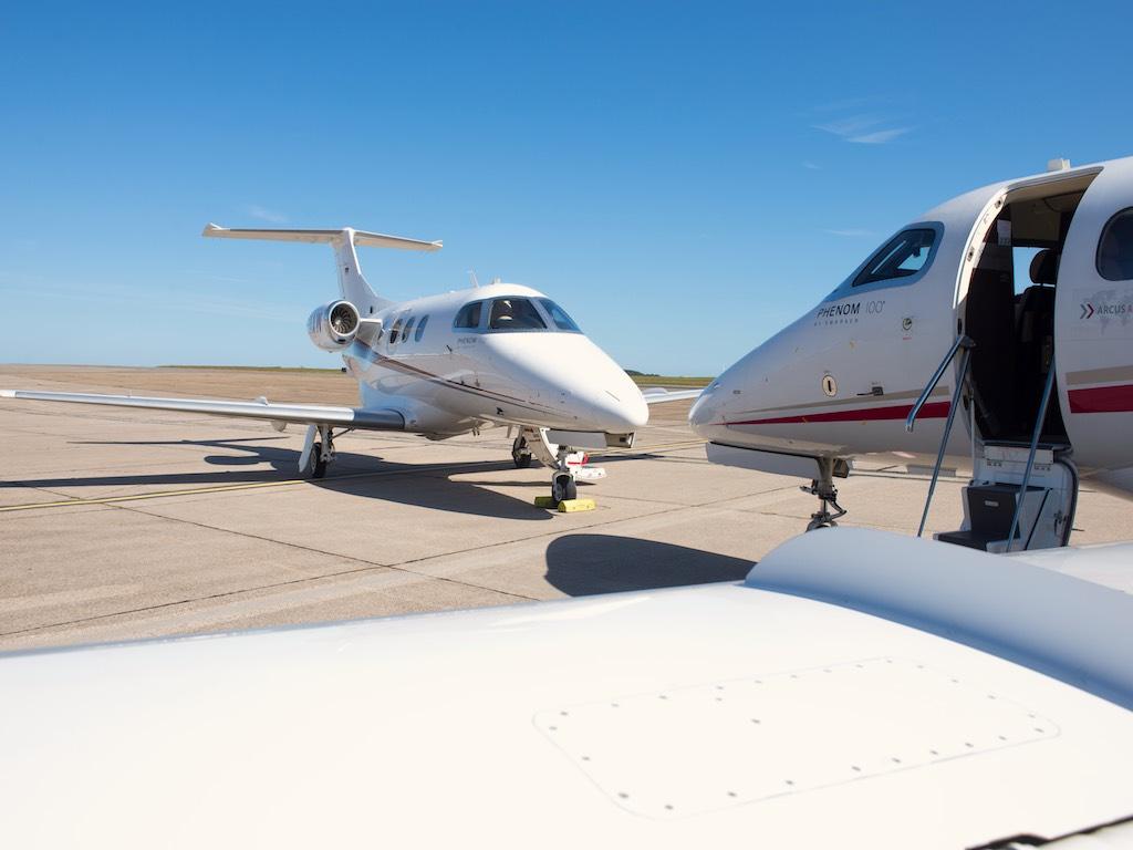 Für Flüge mit Privatjets herrscht wegen der Coronakrise derzeit in Europa eine große Nachfrage