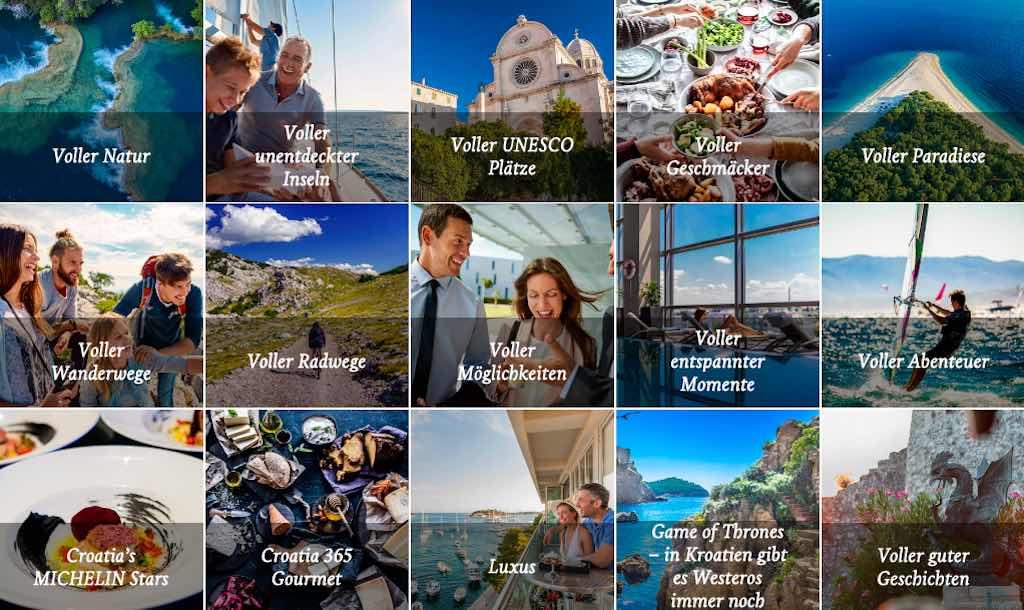 Willkommen in Kroatien: Der Tourismus ist ein wichtiger Zweig der Wirtschaft Kroatiens. Das Land ist eines der beliebtesten Urlaubsreiseziele Europas und verfügt über eine langjährige Tradition im Fremdenverkehr. Es ist eines der populärsten Urlaubsziele der Welt