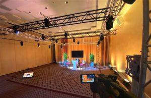 Digitale und ortsunabhängige Events stehen aktuell im Fokus. Zum Beispiel können im Live Meeting Room des Best Western Premier Castanea Resort Hotel Unternehmen Online-Meetings und Streamings planen und durchführen (Foto: BWH)