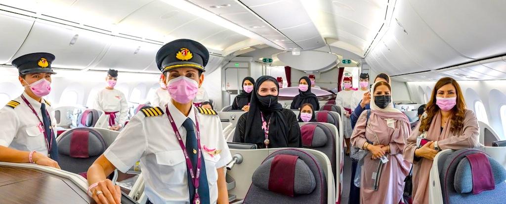 Am Boden und an Bord von Qatar Airways herrschen strenge Hygienemaßnahmen  zum Schutz vor Covid-19